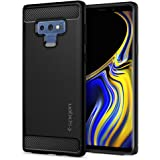 Spigen [Rugged Armor] Galaxy Note 9 Case with Resilient Shock Absorption and Carbon Fiber Design for Galaxy Note 9 (2018) - Matte Black