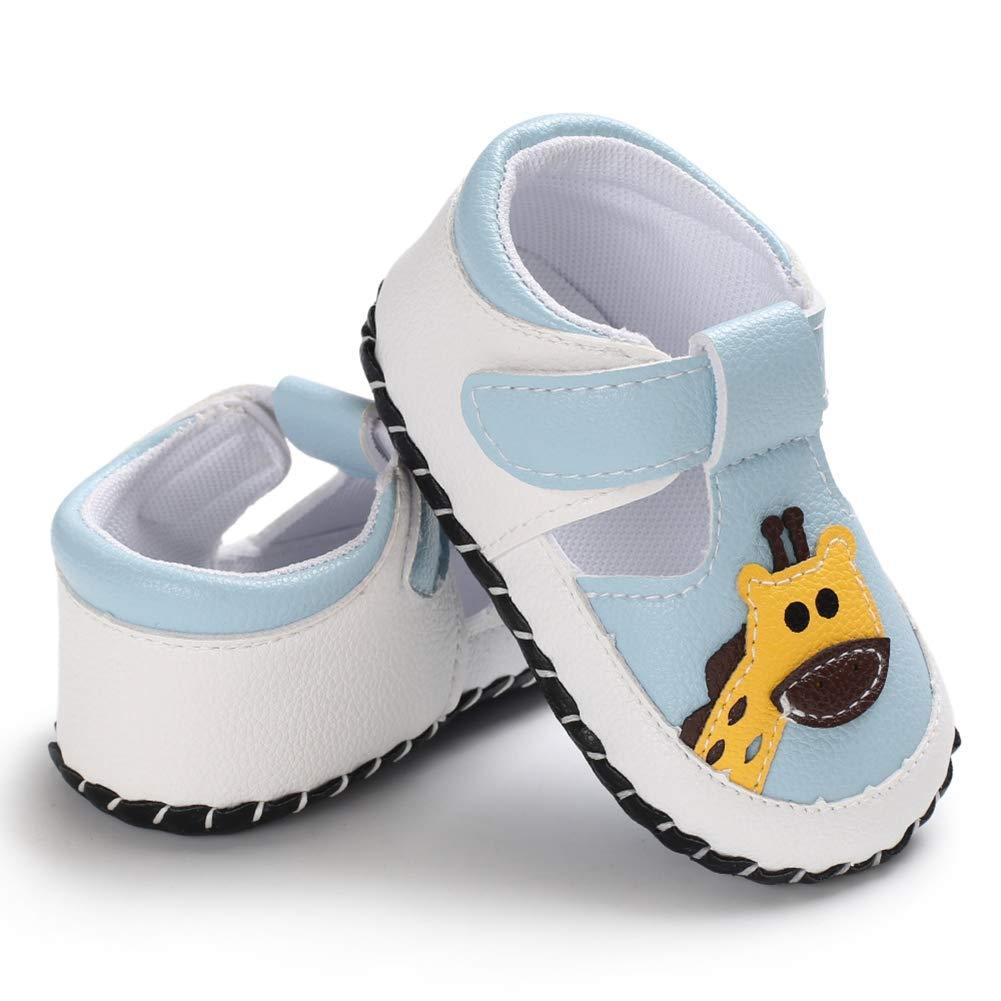 6-12 Mois 12-18 Mois Miyanuby Chaussures Bebe Gar/çon Girafe de Dessin anim/é Semelle Souple Antid/érapant Confort Sandale Chaussures Premiers Pas Garcon 0-6 Mois