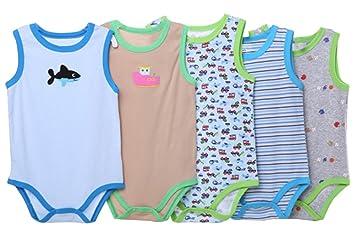 sleeveless Sleeve Bodysuit Baby Romper 0-24 months Short Baby long