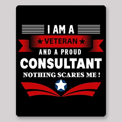 Home Of Merch I Am A Veteran And Proud Consultant Nothing Scares Me Idea Birthday