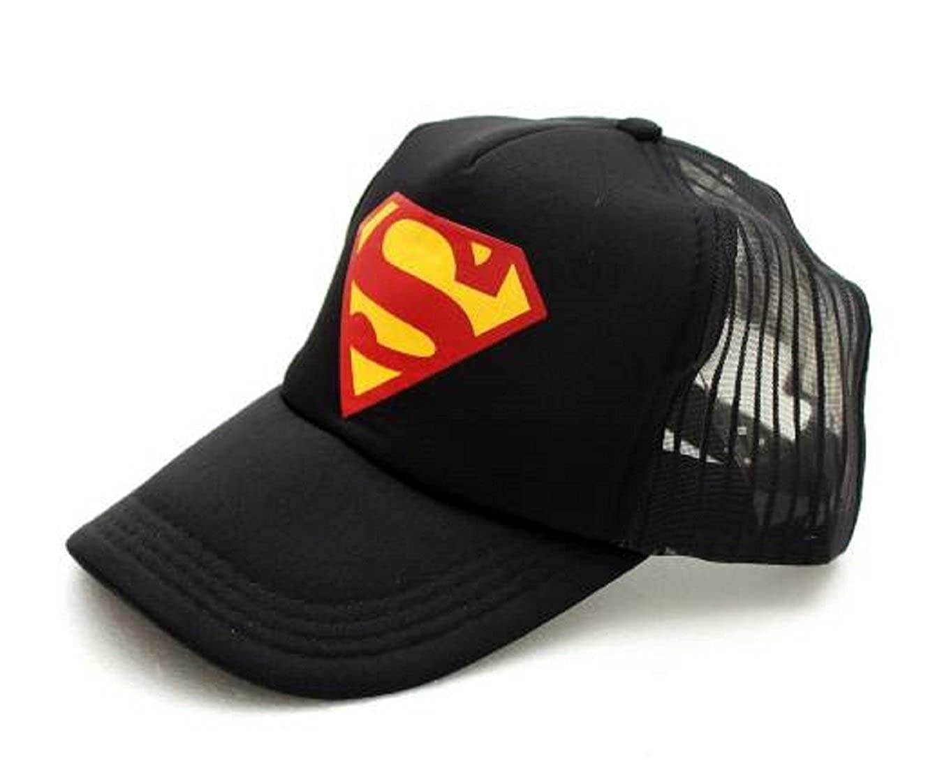 Michelangelo Superman Black HALF NET Cap For Men Girl Womens UNISEX CAP   Amazon.in  Clothing   Accessories 967b3ab105f