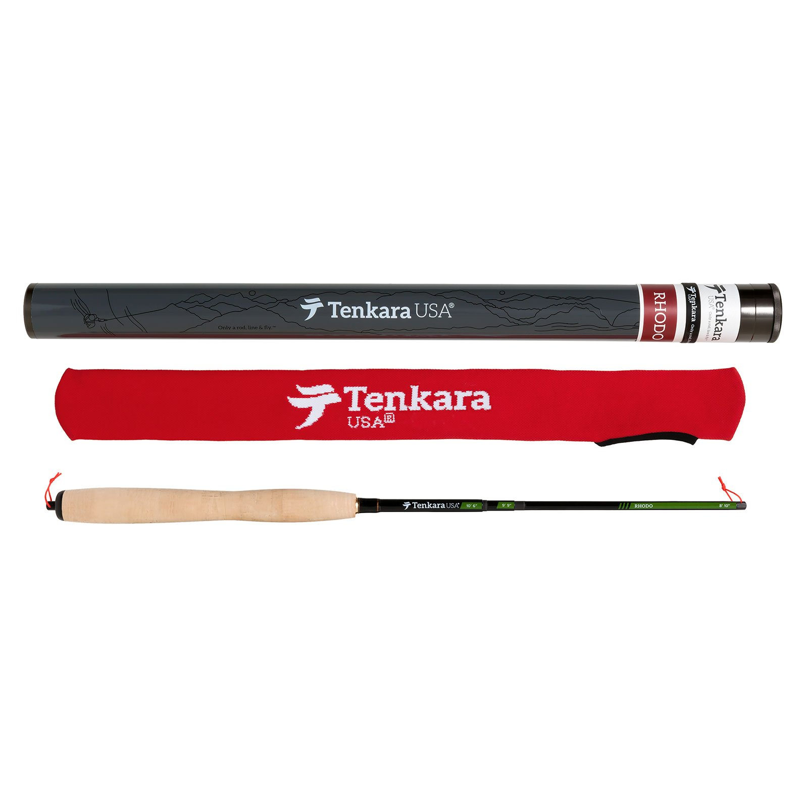 Tenkara Rhodo Fly Fishing Rod Multi-Size Telescopic (8'10', 9'9'', 10'6'')