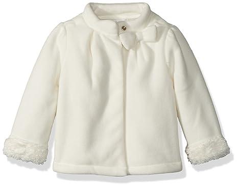 496acc737d518 Amazon.com  Gymboree Baby Girls Faux Fur Trim Jacket with Bow  Clothing