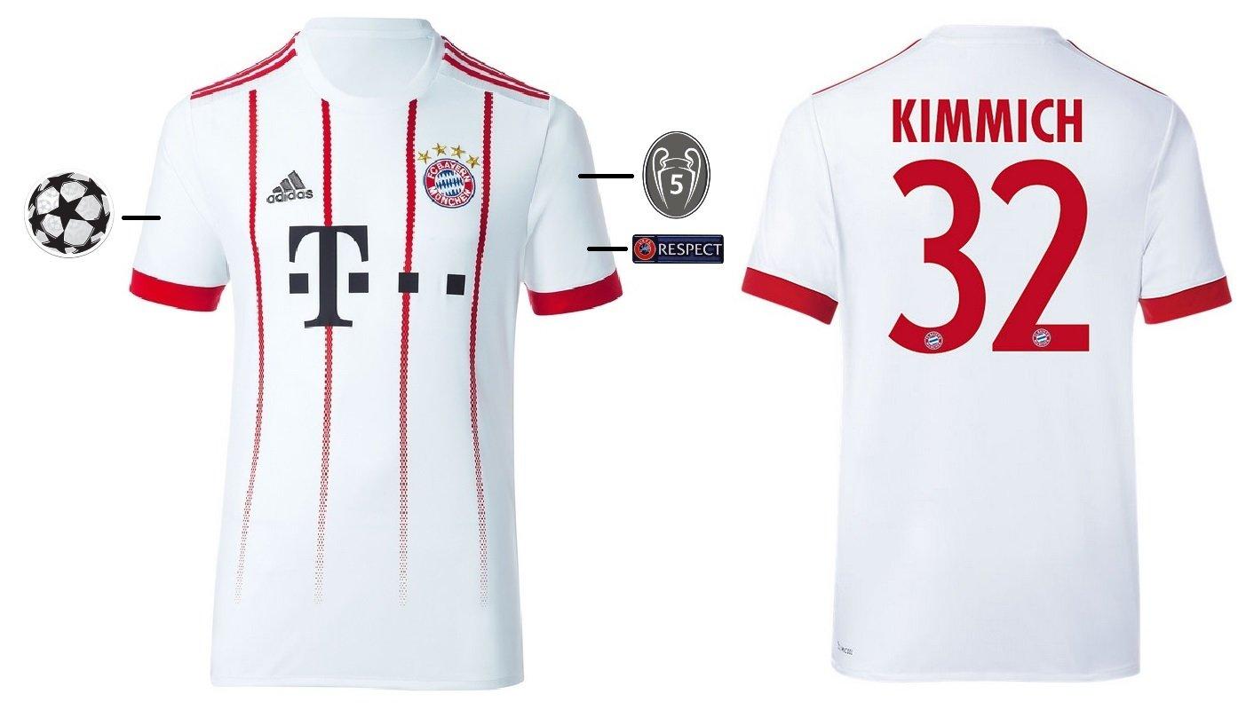 Trikot Kinder FC Bayern 2017-2018 Third UCL - Kimmich 32