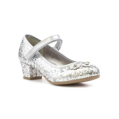c1549c16df0f Lilley Sparkle Girls Silver Easy Fasten Party Shoe - Size 8 Child UK -  Multicolour