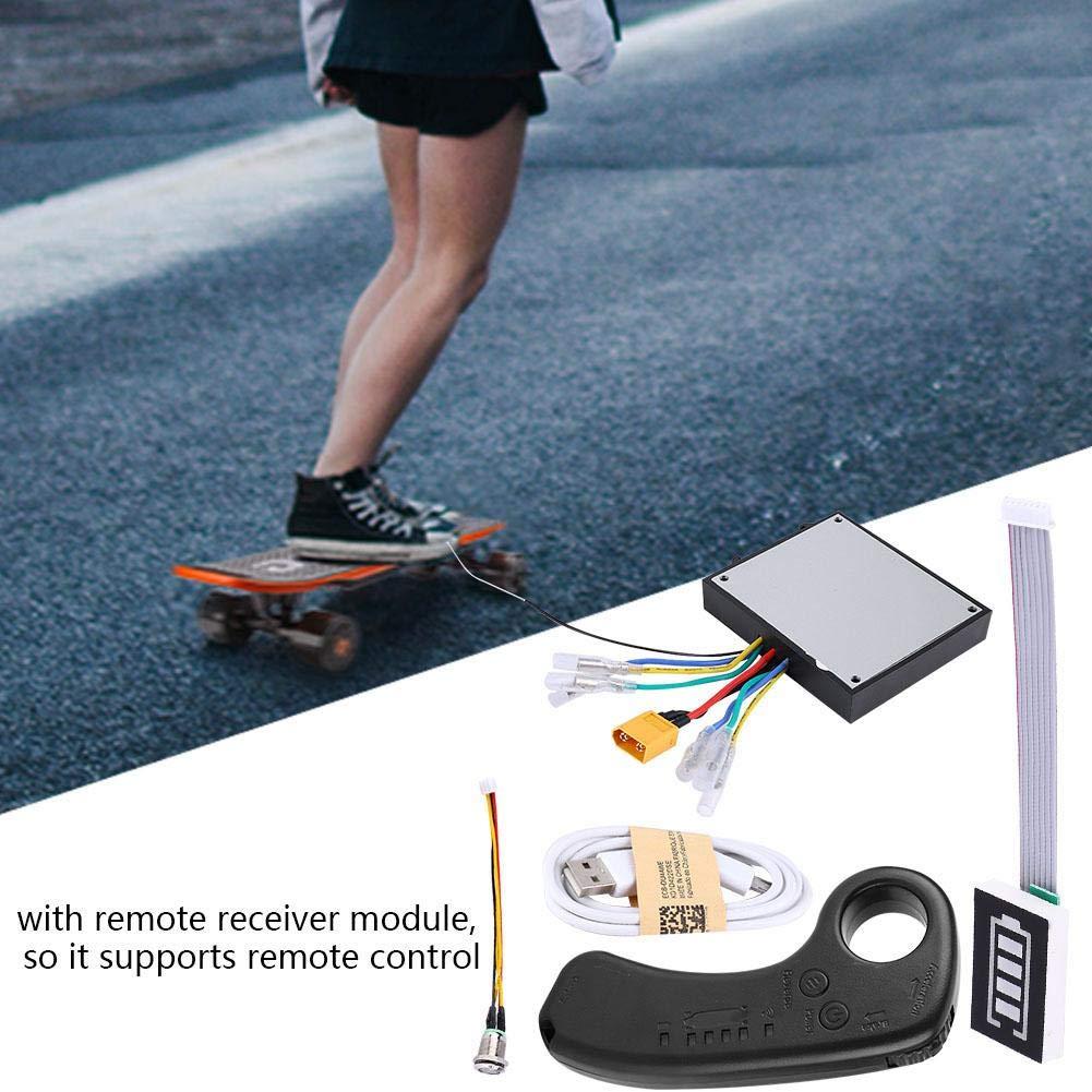 Electric Skateboard Longboard Dual Drive Skateboard Controller ESC Sustituto Control Mainboard con Control Remoto Jadpes Skateboard