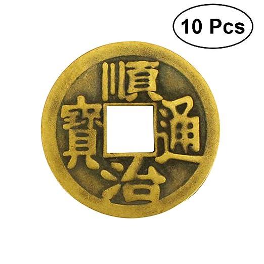Vorcool 10 Stücke Chinese Feng Shui I Ging Wahrsagerei Münzen Für
