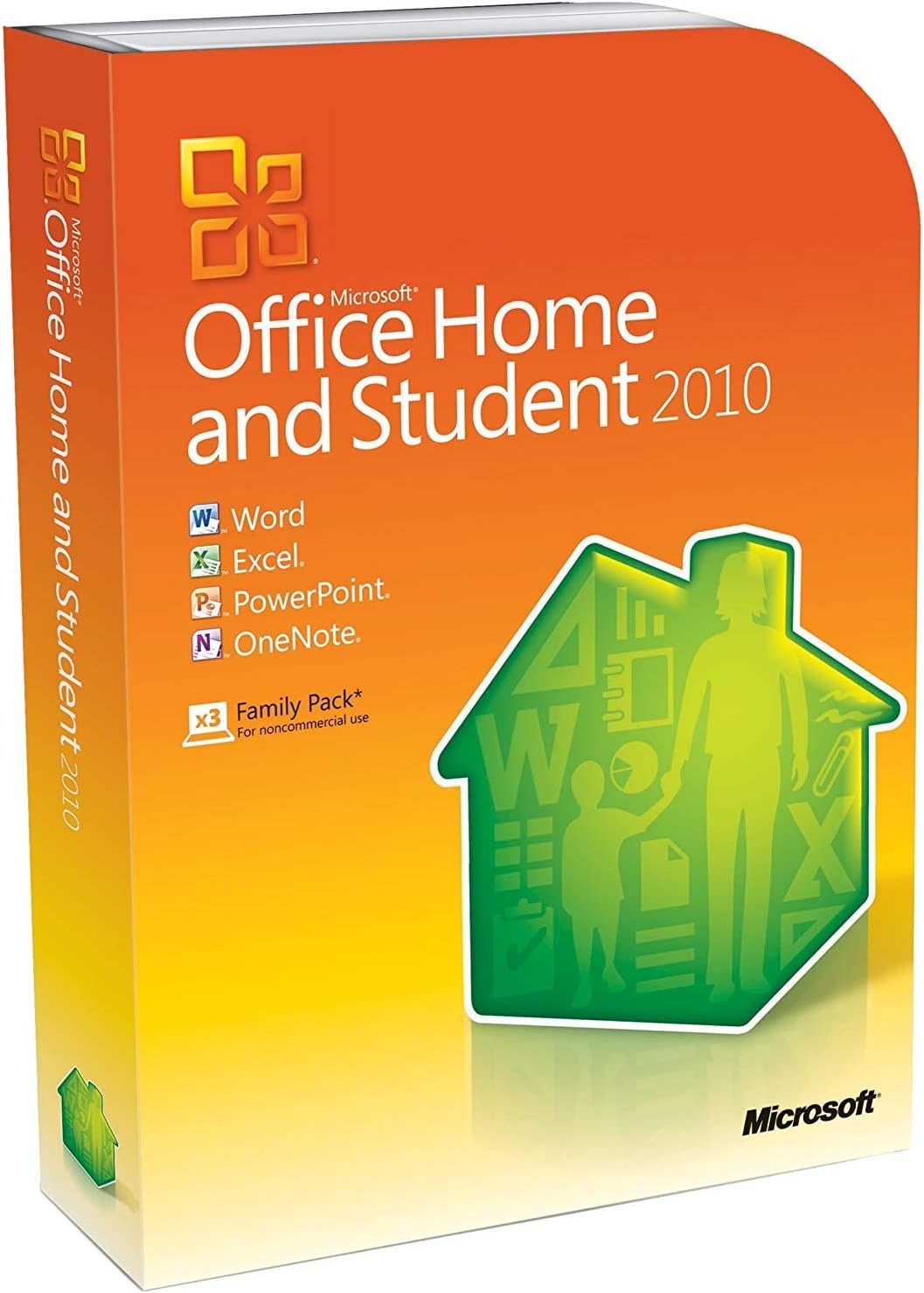 Microsoft Office 2010 Home and Student Retail Family Pack - 3PCs