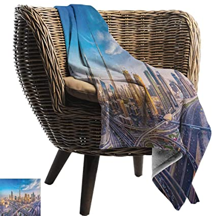 Wondrous Amazon Com Zsuo Baby Blanket 60X62 Inch City Panoramic Machost Co Dining Chair Design Ideas Machostcouk
