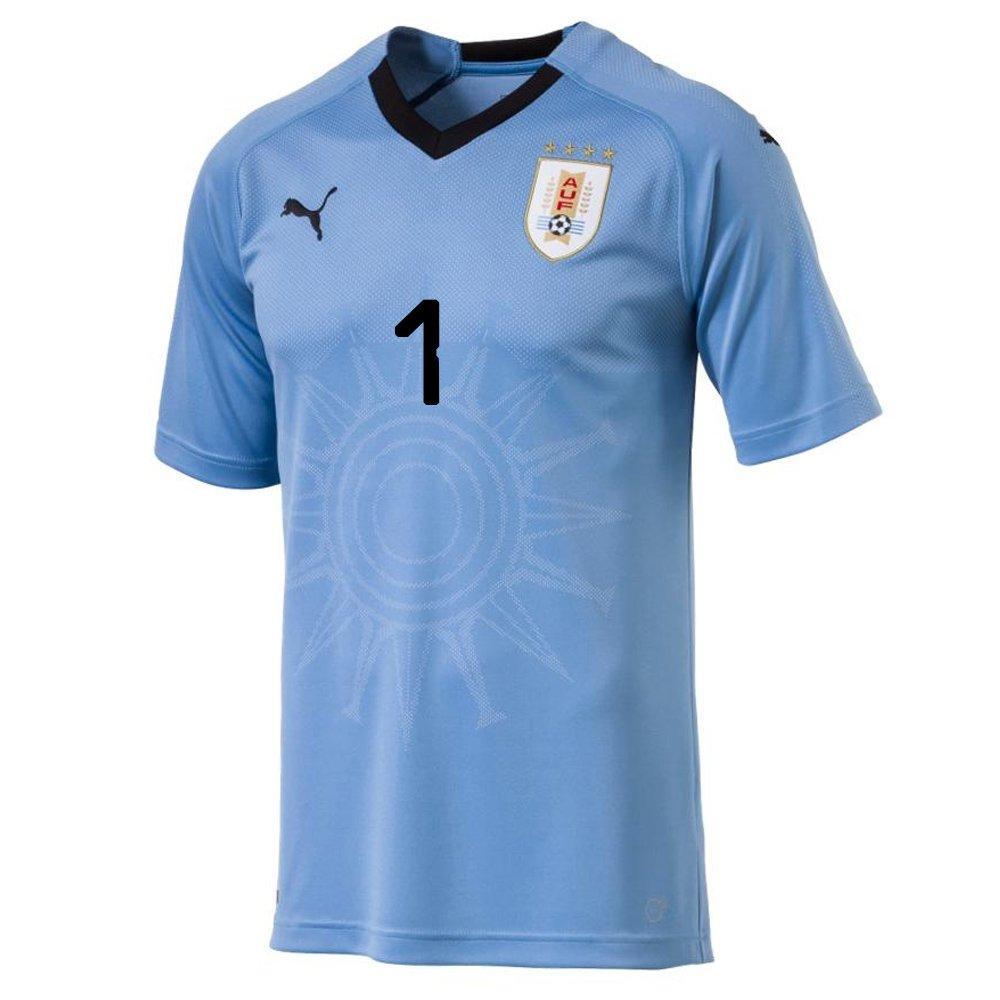 ef4880143f1 Amazon.com : PUMA F. MUSLERA #1 Uruguay Home Men's Soccer Jersey World Cup  Russia 2018 : Sports & Outdoors