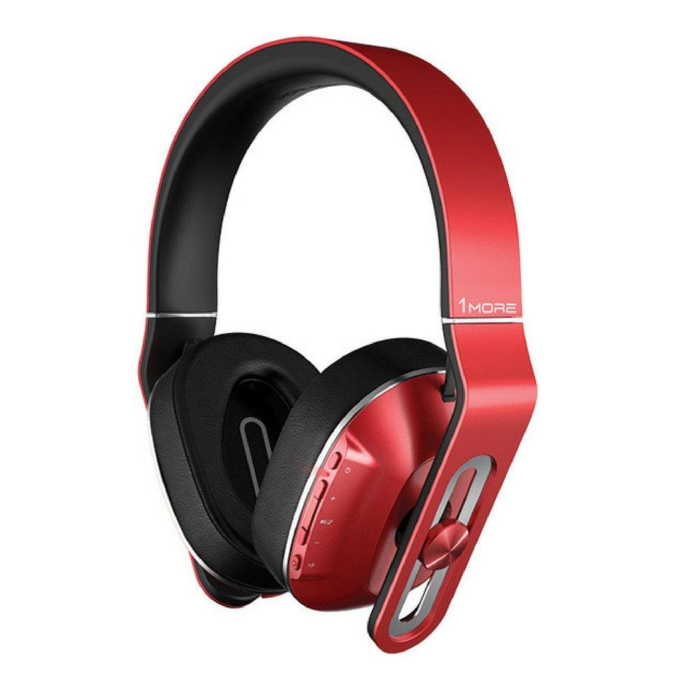 1MORE MK802 Cuffie Bluetooth 4.1 et aptX Senza Fili con Microfono e Telecomando, 3-Livelli Basso, Batteria di Grande capacità , per TV Smartphone Tablet Laptop PC(Rosso) Batteria di Grande capacità MK802-RD