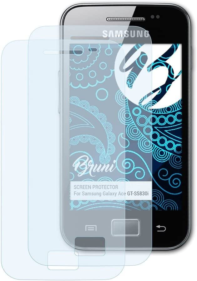 Bruni Screen Protector for Samsung Galaxy Ace GT-S5830i Protector Film,  crystal clear Protective Film (2X): Amazon.co.uk: Electronics
