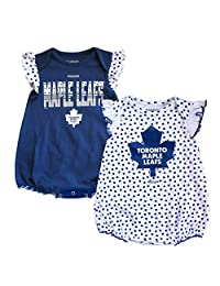 Toronto Maple Leafs Newborn Girls Polka Fan 2-Pack Bodysuit Set - Size 6-9 Months