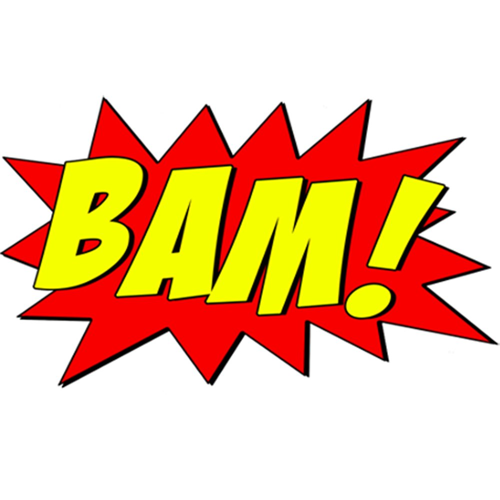 Amazon.com: VWAQ Comic Book Wall Decal Bam Sound Effect Wall Art ...