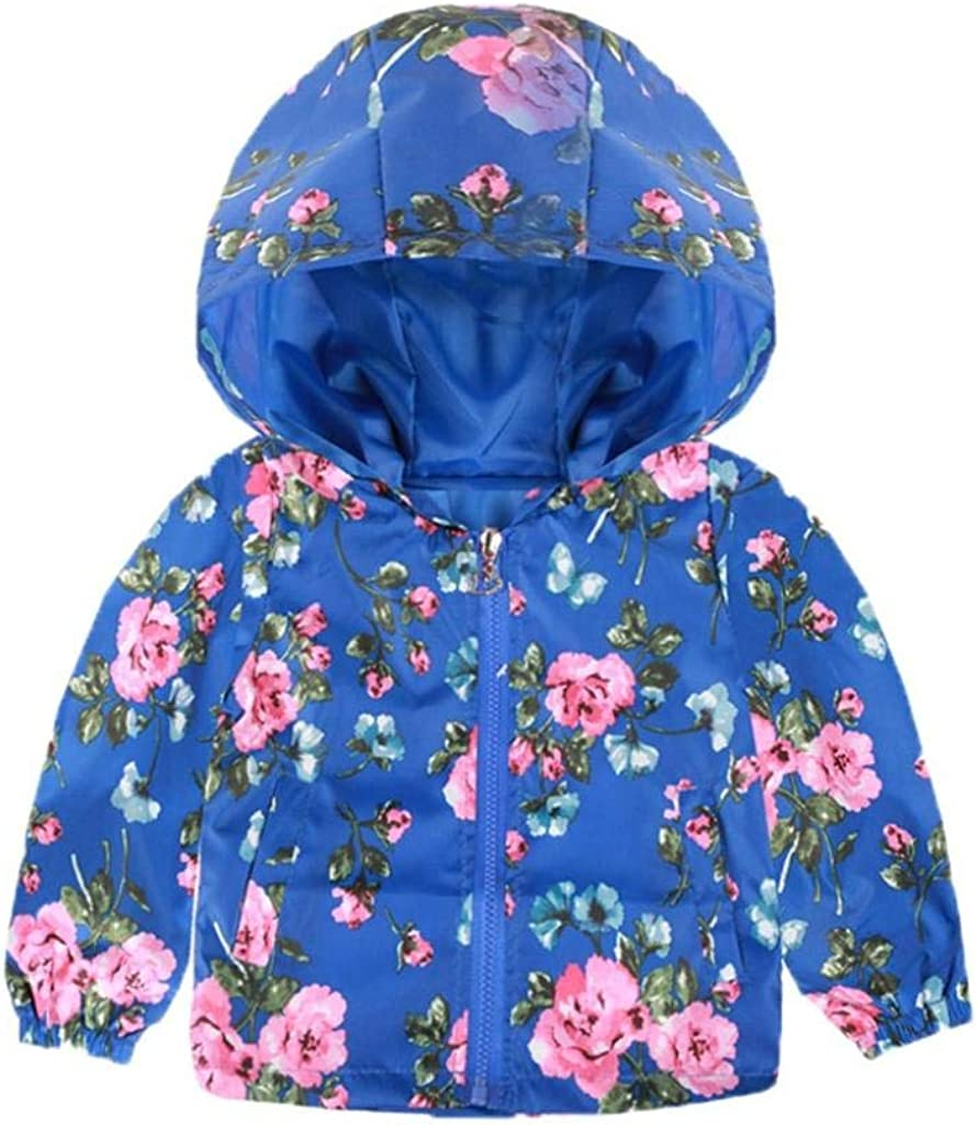 Toddler Kids Baby Grils Boys Long Sleeve Cartoon Print Hooded Coat Tops Outfits Palarn Baby Clothes