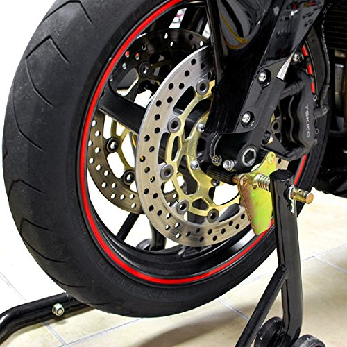 Venom Motorcycle Front+Rear Paddle Wheel Lift Stand For Suzuki GSXR GSX-R Gixxer Hayabusa 1300 by Venom (Image #5)