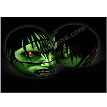 Amazoncom The Hulk Motorcycle Helmet Cover AND Visor Sticker - Motorcycle helmet visor decals