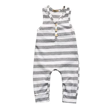556ebeeff SHOBDW Boys Rompers, Kids Baby Girls Fashion Striped Sleeveless Cozy Party  Summer Jumpsuit Pajamas Clothes Outfits Newborn Infant Gifts: Amazon.co.uk:  ...