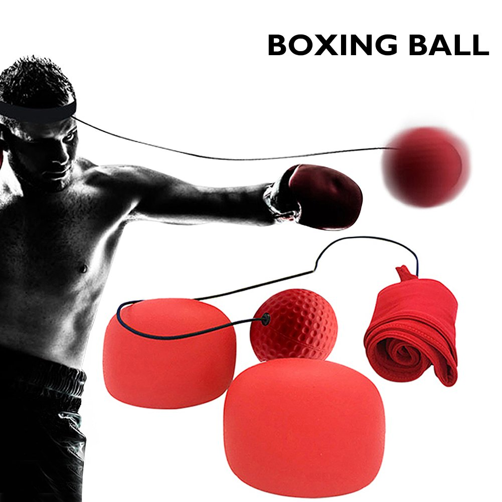 Angela&Alex Boxing Fight Ball, Reflex Ball Speed Reaction Train Equipment Fitness Accessories