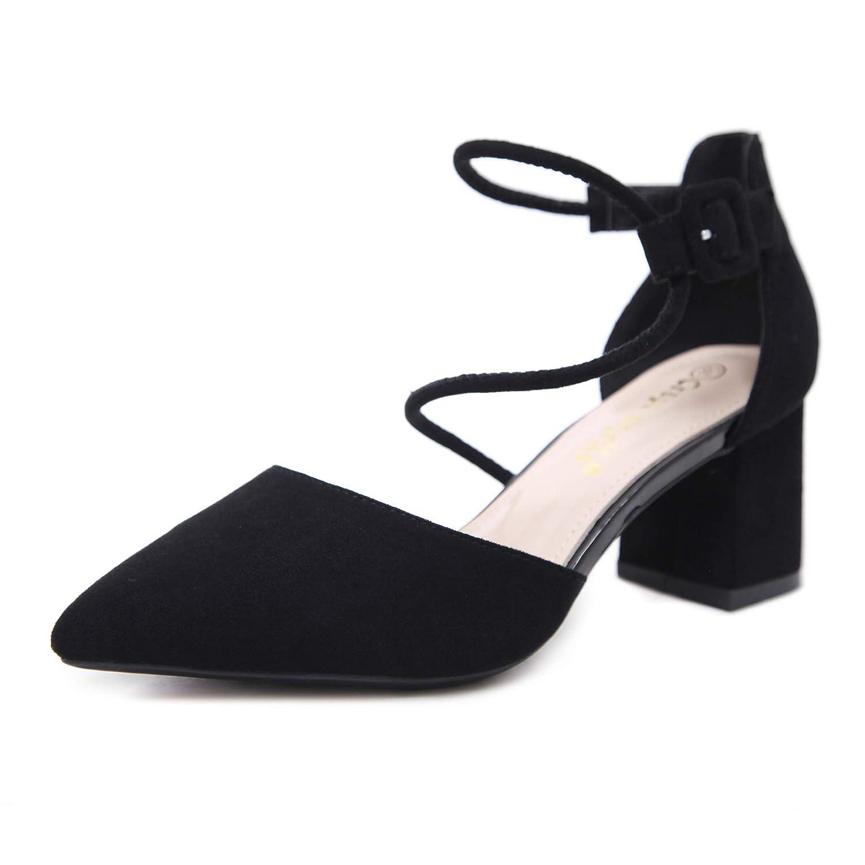 Yukun Schuhe mit hohen Absätzen Herbst-Einzelne Schuhe Schuhe Schuhe Weiblicher Spitzer Nackter Starker Ferse Mit Wildem Flachem Mund-Mode-Fee-Hohen Absätzen dd8b80