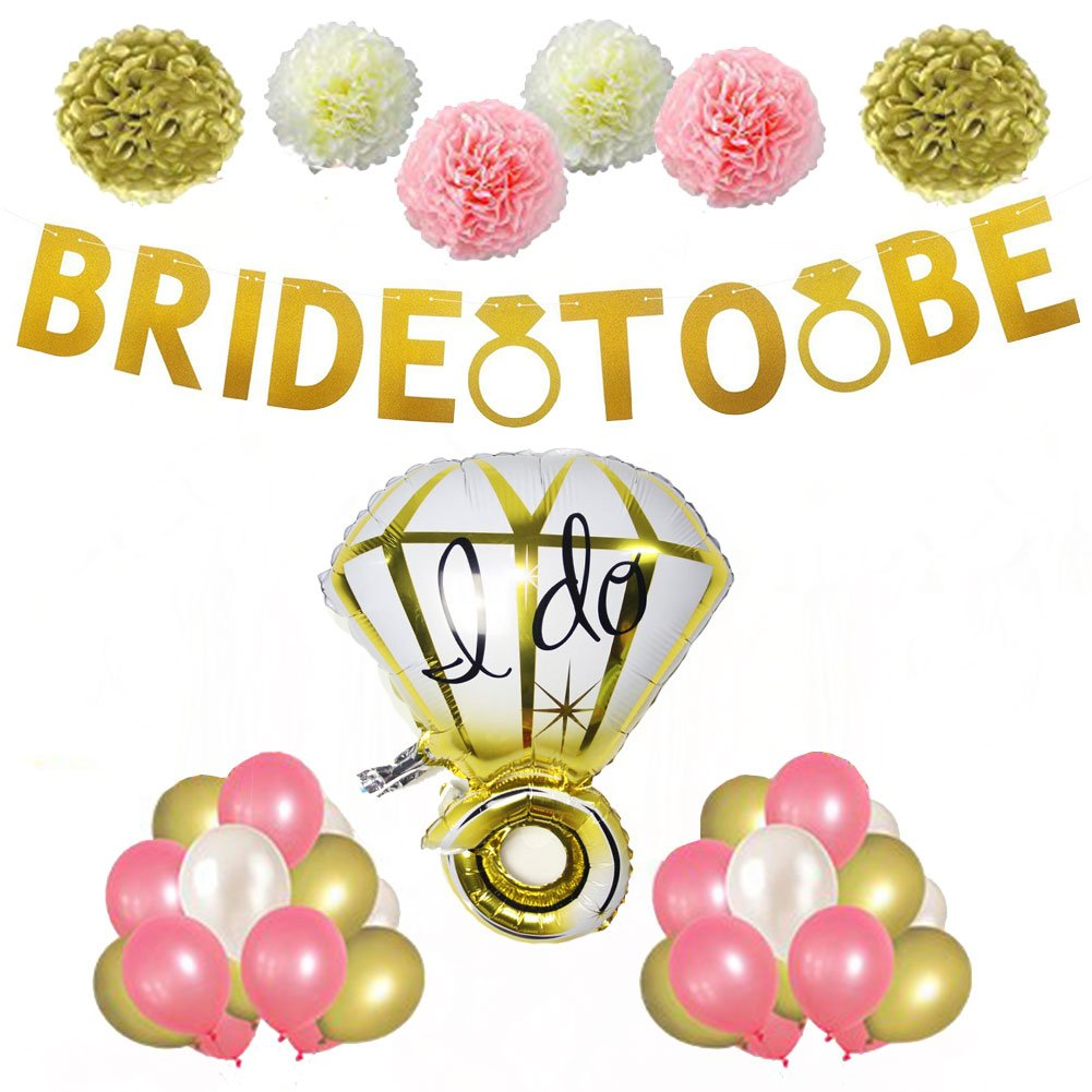 206b1ad3f36 Amazon.com  Bride To Be Glitter Banner for Bridal Shower