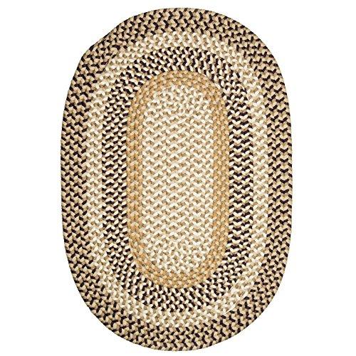 Oasis Plum Burmingham - Burmingham Polypropylene Braided Rug, 7-Feet by 9-Feet, Plum Oasis