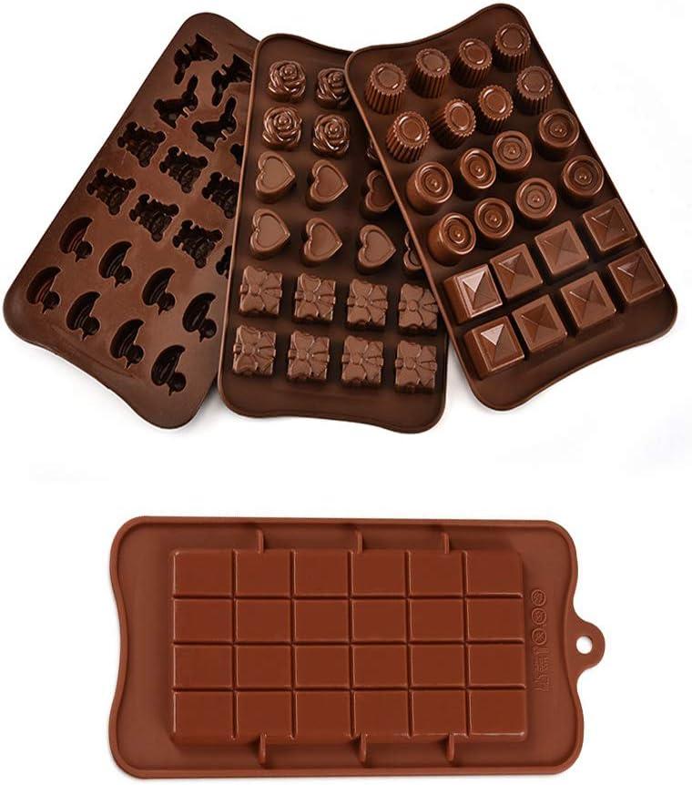 integrity.1 4 Piezas Moldes para Bombones de Silicona,Truffle Mold Paquetes de Moldes de Silicona,Antiadherente de Grado Alimenticio para Chocolate, ...