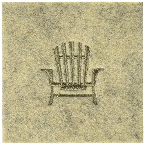 (Abbott Collection 1227-Cabin/Cstr Sand Coaster with Stitched Chair)