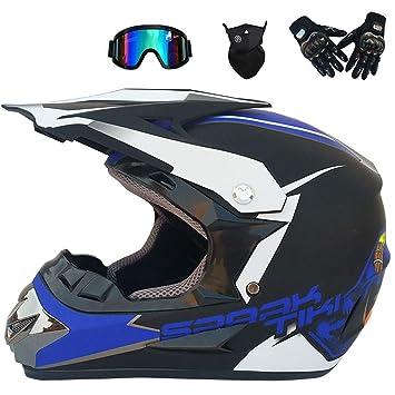 WMING Motocross Casco Playa Racing Casco Bicicleta De Montaña Todo-Alrededor Casco Adultos Hombres Y