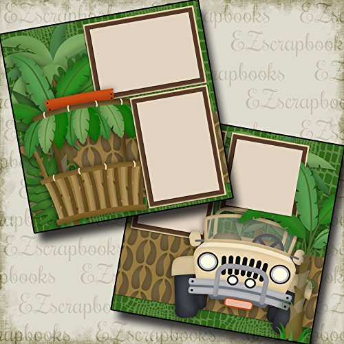 JUNGLE SAFARI - Premade Scrapbook Pages - EZ Layout 2346