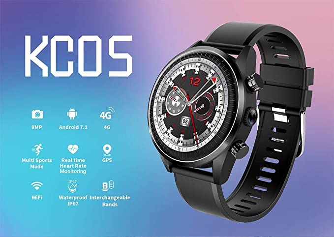 Festnight KINGWEAR KC05 4G LTE Smart Watch Phone Android 7.1 ...