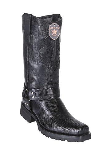 Los Altos Men/'s Motorcycle Genuine Teju Biker Cowboy Western Boots