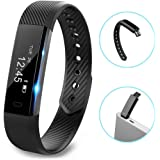 Fitness Tracker, Bluetooth Wristband Pedometer, Sweatproof Step,Distance ,Camera Remote Smart Bracelet Activity tracker with Sleep Monitor for Android and IOS