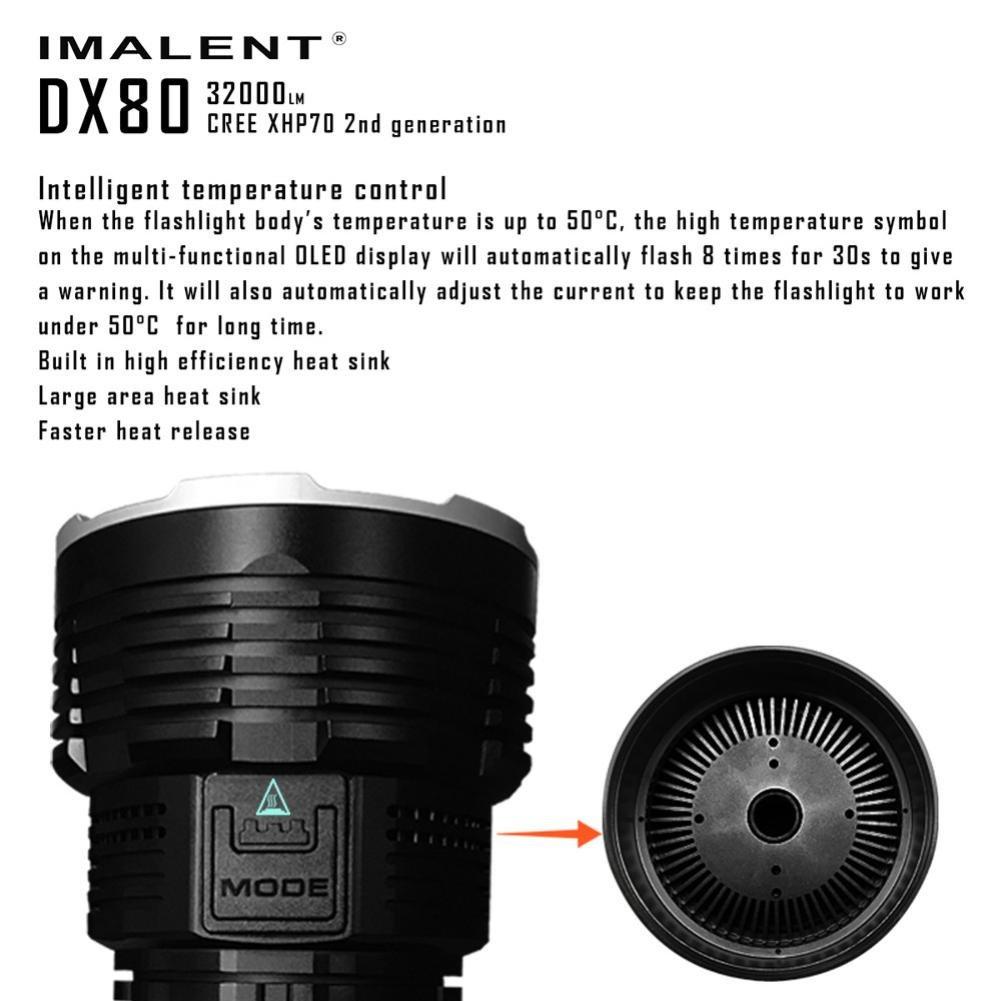 DX80 Cree XHP70 LED Flashlight 32000 Lumens 806 Meters USB Charging Interface Torch Flashlight by bestpriceam (Image #5)
