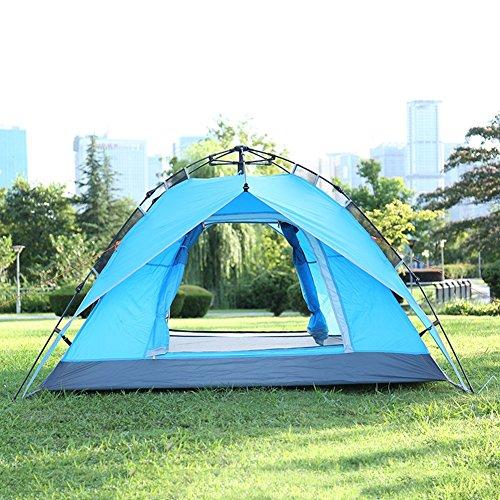 ズーム化石権利を与える3 - 4人テントダブルキャンプテントアウトドアオートキャンプキャンプのためのテントキャンプマウンテンレインフォールトレンドテント