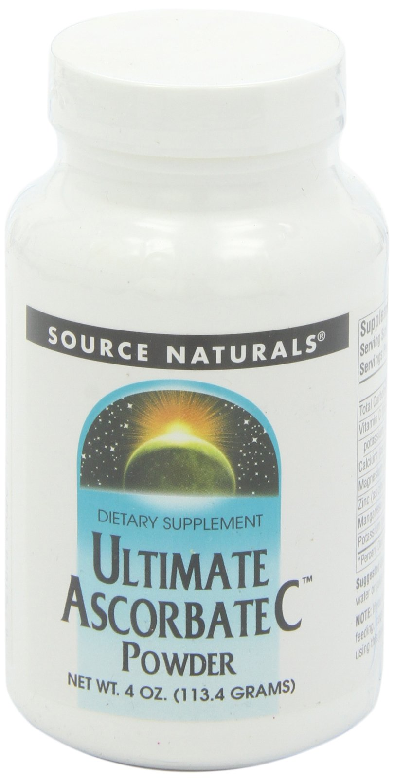 Source Naturals Ultimate Ascorbate C Powder, Supports Immune System, 4 Ounce