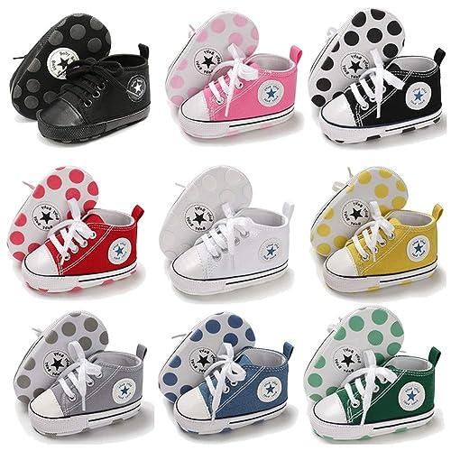 Amazon.com: Zapatos de lona para bebé y niña, suela suave ...