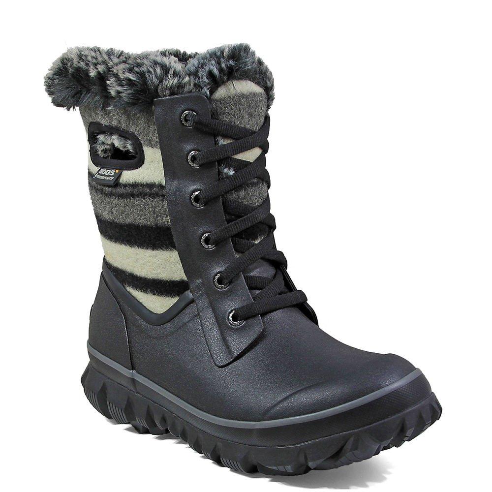 Bogs Women's Arcata Stripe Waterproof Winter Boot B01MZBMH28 10 B(M) US|Blk Multi