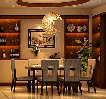 Wunderbar Lamps LED Wohnzimmer, Schlafzimmer Licht, Mond Modell Rattan Single Head  Kronleuchter Persönlichkeit Balkon Schlafzimmer