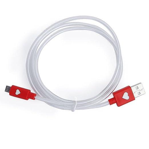 3 opinioni per SODIAL (R) Micro USB dati cavo di ricarica per Samsung HTC LG con LED luce rosso