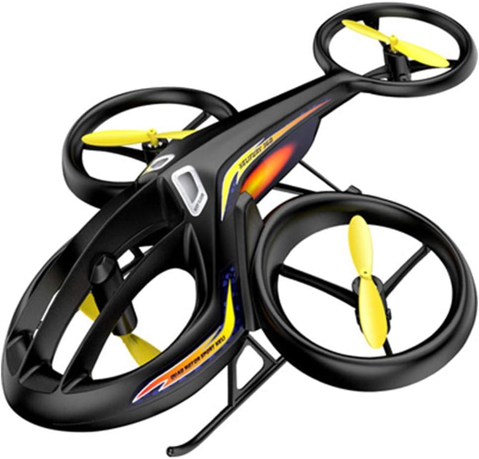 LinGO Personalidad Avión RC Dron De Control Remoto Acrobático con 4 Motores 360 Grados De Altura De Balanceo One Key Take Off Aterrizaje Niños Volando Regalos De Juguete para Niños Niñas