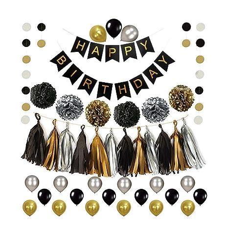 Dream-D Guirnalda de Globos de cumpleaños con diseño de ...