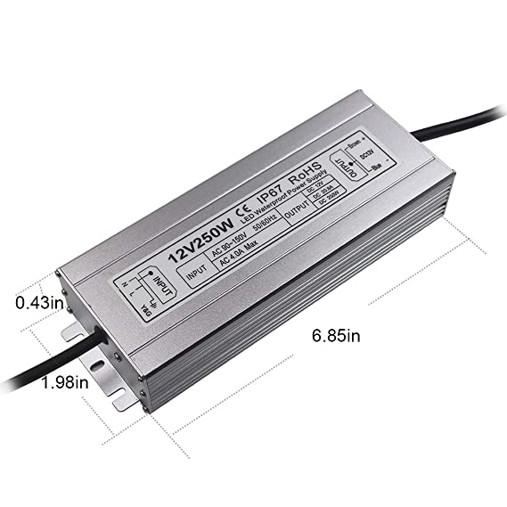 Amazon.com: LED Power Supply 250W High-powerTransformer ...