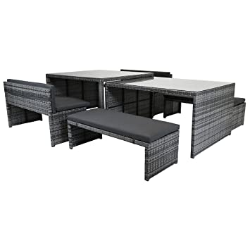 10 Seater Garden Furniture Charles bentley rectangular 8 10 seater rattan dining set glass top charles bentley rectangular 8 10 seater rattan dining set glass top table and benches outdoor workwithnaturefo