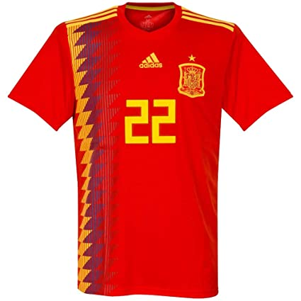 Amazon.com   adidas Spain Home ISCO Jersey 2018 2019 (Official ... c65890aae