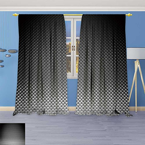 (SOCOMIMI Abstract Decor Curtains,Realistic Background Wallpaper Texture,Living Room Bedroom Window Drapes 2 Panel Set, 96W x 72L inch)