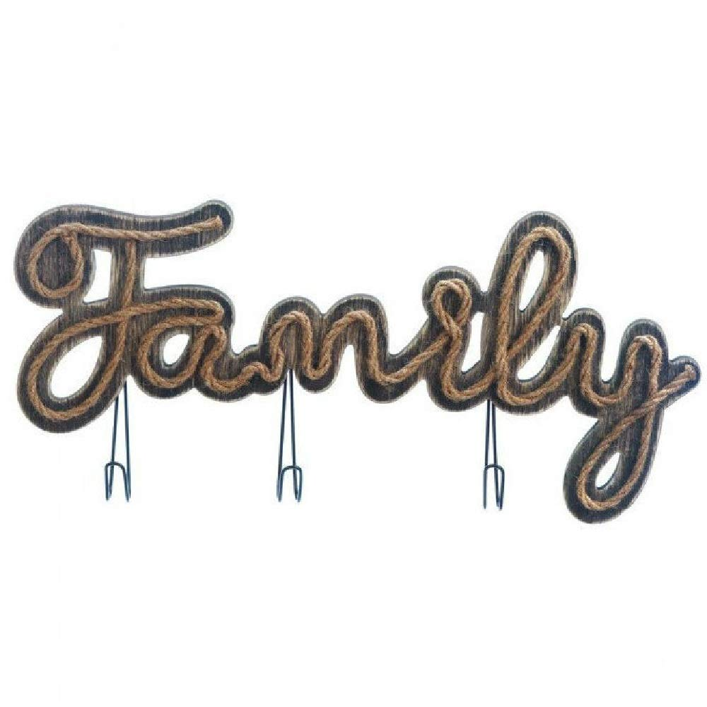 BESTChoiceForYou Sign Family Metal Letters Bingo Board Game Fun Rustic Vintage Marquee Light with Hooks