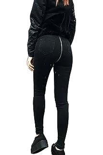scaling ❤Back Zipper Jeans Pants Women Back Zipper Pencil ...