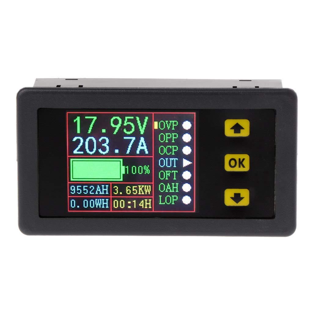 Digital Multimeter Charge-Discharge Battery Tester DC 0-90V 0-20A Volt Amp Meter by LOLOVI