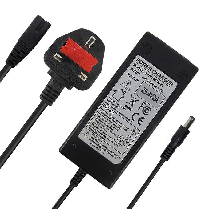29 4V 2A Charger Power Supply Adapter for 24V 25 2V 25 9V 29 4V 7S lithium  battery pack, e-Bike electric bicycle pedelec, Electric Bike batteries,